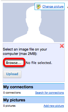 Click Browse, locate the picture on your computer and click Open.