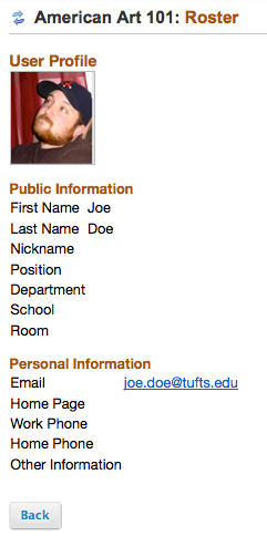 Example of Profile2 picture in site Roster tool.