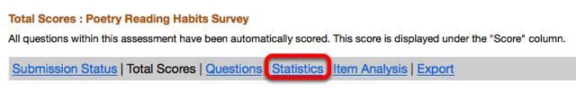 Click Statistics.
