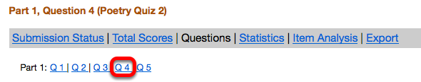 Select the Short Answer/Essay question number