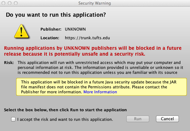 """1- Audio Question """"Unknown Publisher"""" Certificate"""