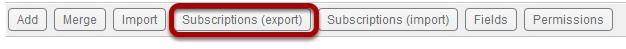 Calendar tool iCal Subscription Export