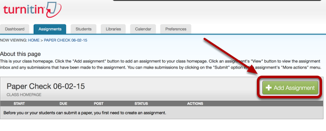 Click Add Assignment.