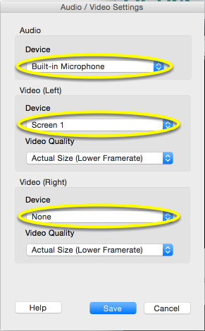 Check the sources for the audio and video inputs.