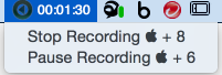 After you've finished your presentation, stop the recording by typing Cmd + 8.
