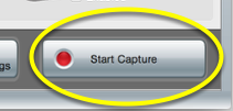 """Hit """"Start Capture."""" It will respond with a 5 second countdown."""