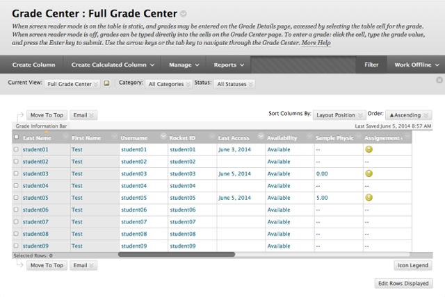 Step 1 - Access the Full Grade Center