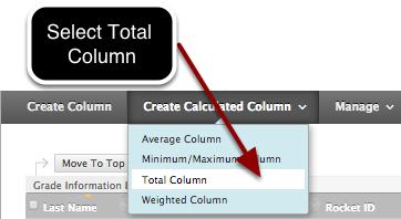 Step 1- Select Total Column