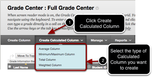 Select the Type of Calculated Column You Want to Create