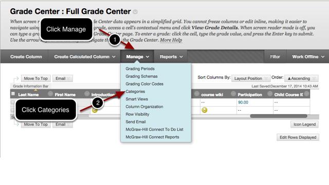 Step 2 - Create a Grade Center Category