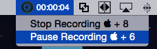 The Stop Recording feature is highlighted