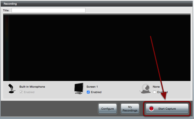 The software screen with a red box around the Start Capture button