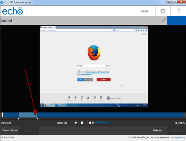 The edit screen with a red arrow pointing to the second triangle