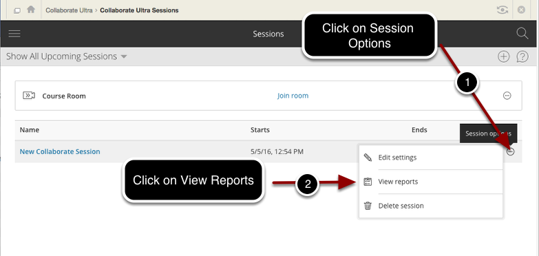 Selecting View Reports