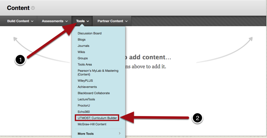 Select the UTMOST: Curriculum Builder Tool
