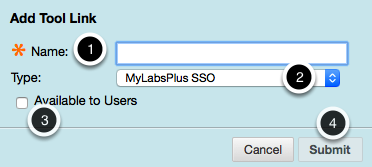 Select MyLabsPlus SSO