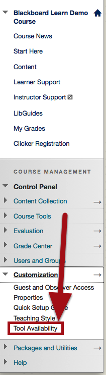 Select Tool Availability
