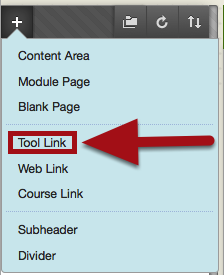 Add a Tool Link to the Course Menu