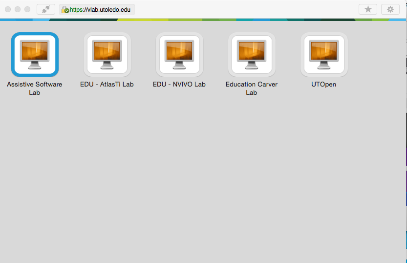 Image showing a list of available vlabs