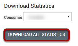 (Optional) Click Download All Statistics to save the data to your computer as a CSV file.