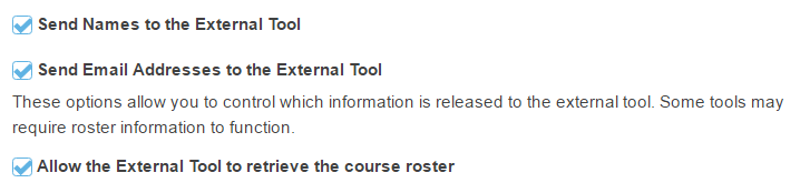 Allow roster information release. (Optional)