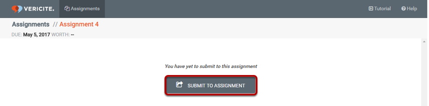 Click the Submit to Assignment button.