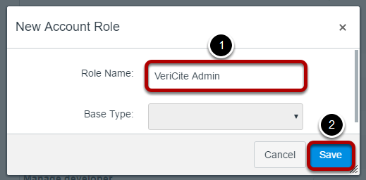 Name the new role and click Save.