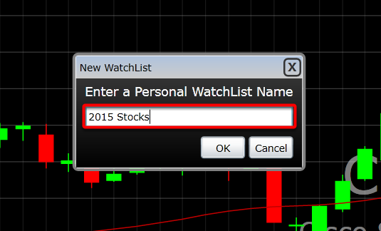 3. Create a name for your Personal Watchlist.