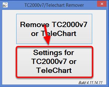 18. Select Settings for TC2000v7 or TeleChart.