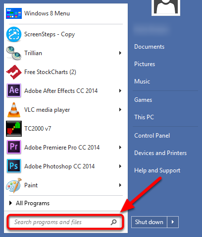 """3. In the search field type """"File Explorer""""."""
