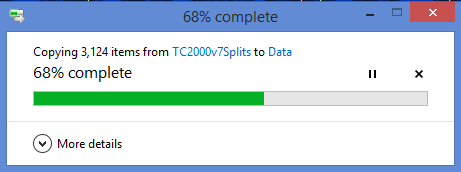 22. Wait for the files to be replaced.
