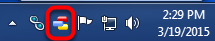 1.  Locate and right click on the small StockFinder icon on the Windows Toolbar near the system clock.