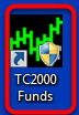 1. Right click on the TC2000 Funds icon on your desktop.