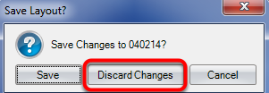 9. Click Discard changes.
