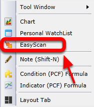 2. Left click on EasyScan