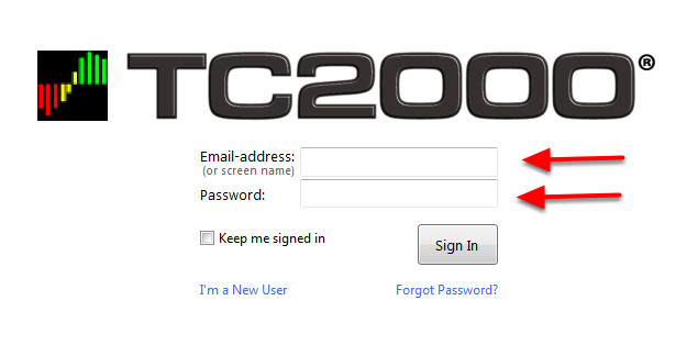 7. Sign-in with your E-mail address or Screen Name and Password.
