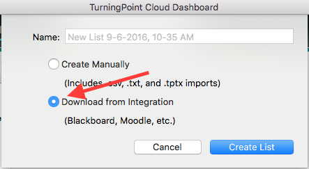 Download from Integration