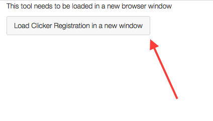 Click Load Clicker Registration in a new window