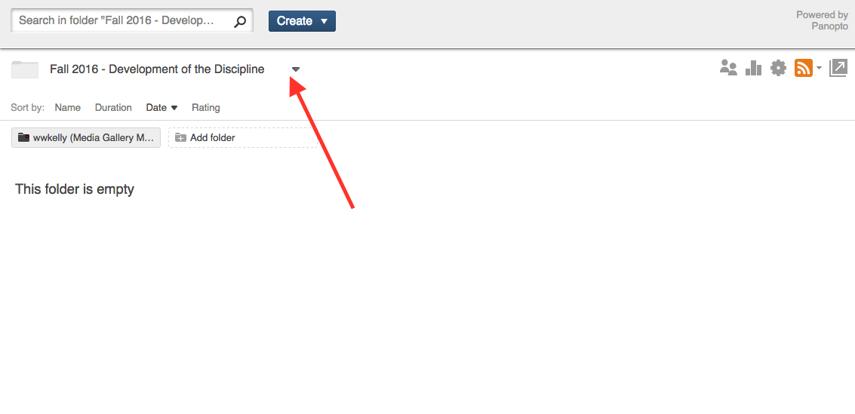 Select folder dropdown menu in Media Library