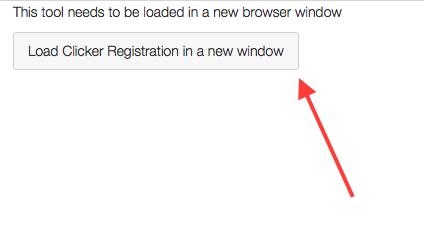 Click Load Clicker Registration in a new window