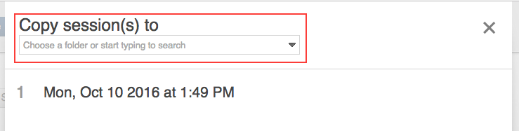 From the dropdown menu, select the new location