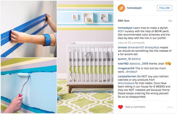 Home Depot Instagram