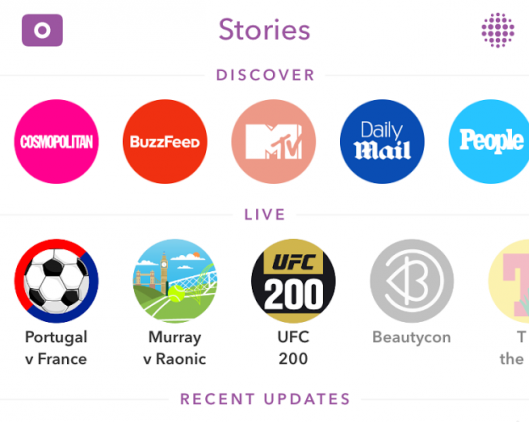 Snapchat Live Story Content Experience