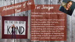 Mrs. Jernigan wins a BIG award!!
