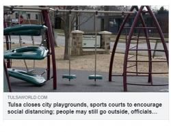 City of Tulsa, Union Schools Closes All Playgrounds
