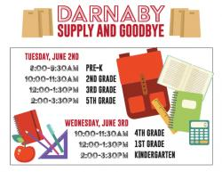 Darnaby Supply and Goodbye set June 2-3