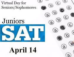 Thumbnail Image for Article Juniors Takes SAT April 14; Same Day is Virtual Day for Seniors & Sophomores