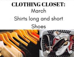 Thumbnail Image for Article Shoes & Shirts Needed for Clothing Closet