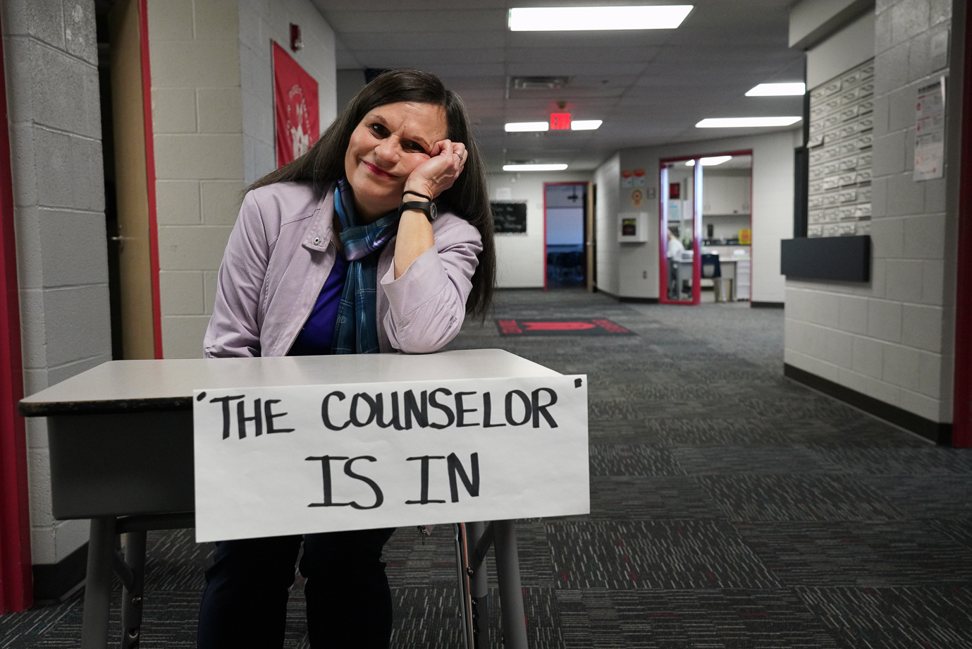 """Cedar Ridge Elementary -  Kim Strom, Counselor Counselor Kim Strom has been named the Cedar Ridge Teacher of the year for 2019-2020. """"Even from my youth, I have had a desire and a sense of purpose in helping people,"""" Strom said. """"As a school counselor, there are so many situations where reaching out to students and families is prime. My position is so diversified in that I have the opportunity to interact with individual and small groups of children, parents and families, staff, PTA, and community members.  I also am privileged to go multiple times into all of the regular classes to teach lessons that help promote good character, anti-bullying and safety.""""  Strom likes to teach lessons that will influence students all of their lives, such as, The Seven Habits of Happy Kids.  """"The information provides applicable and pertinent life skills.  The students can engage in fun and playful activities and can acquire knowledge without even realizing they are learning.  I enjoy sensing their excitement.  Strom started as the counselor for the """"Advancing Children Toward Success"""" (A.C.T.S.) pilot program at Roy Clark Elementary in January of 2000.  Later, she served as Briarglen's counselor for five years. She is currently in my 14th year as counselor at Cedar Ridge. Strom's education background: •B.A. Degree in Psychology from Olivet Nazarene College •Teaching Certification through course work at Azusa Pacific College •M.S. Degree in Counseling Psychology from Northeastern State University •1-year certificate from Rhema Bible Training Center •Course work through Plumbline Ministries •Mandt Training Certificate through Union Public Schools •Adult and Pediatric First Aid/CPR/AED through the Red Cross"""