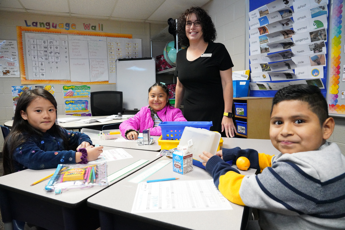 """Roy Clark Elementary -  Rebecca King, 2nd Grade/5th Grade  Second grade teacher Rebecca King has been named Roy Clark Elementary Teacher of the Year for 2019-2020. She has been with Union since 2015.  (She started the year as a fifth grade teacher but took over a second grade class as enrollment numbers changed at Roy Clark.)  """"Growing up I knew I wanted to be a teacher,"""" King said.  """"When my teachers cleaned out their files at the end of each school year, I always jumped in to take their extra copies home.  I often played school with my stuffed animals.  In elementary school, the special education students were in their own classrooms in our building.  In 5th grade, as a safety patrol, we could volunteer to spend our recess time with these students.  I always enjoyed working in these classrooms. In high school, I changed my mind and thought I wanted to be a speech pathologist.  While I was working on my master's degree, I missed the classroom and always had ideas geared for teaching a class. I changed my degree plan and was much happier.  Nineteen years later, I still enjoy seeing what children can do.:  King's favorite subject to teach is math.  """"I love math because there are so many different ways to get to a solution. Over the years I have heard many students – and their parents – say """"They are not good at math and that's OK because some people just aren't.""""  I want to change the mindset from it is ok to not be good at math to the mindset of everyone can be good at math<"""" she said. """"I believe that everyone can be successful when they are exposed to a variety of strategies and positive messages.  Someone once said, 'To be a math person, you just have to be a person and do math'."""" King's education background includes: •Bachelors of Science – Speech Pathology – Oklahoma State University (1996) •Early Childhood and Elementary Teacher Certification - Texas Woman's University (1999) ESL Certification (2019) •Currently Working on Masters in Teaching, Learning and Leade"""